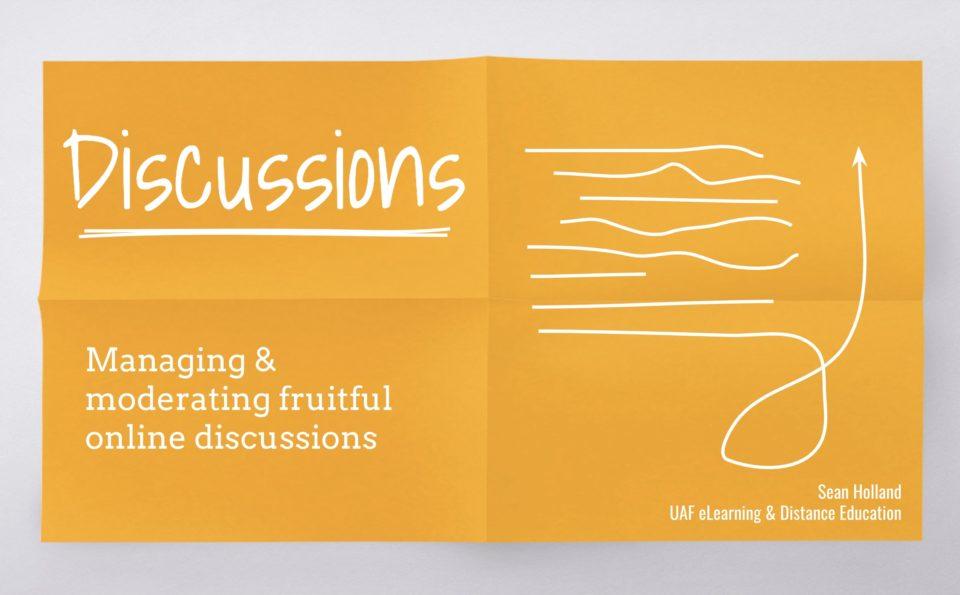 Training Presentation: Discussions
